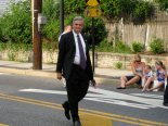 U.S. Rep. Rob Andrews marching July 3 in the Barrington Independence Day Parade.