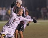 Haddon Heights' Jesse Weick celebrates his goal, giving the Garnets a 2-1 lead in the first half. (Photo by DAVID M WARREN for Philly.com)