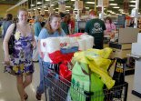Customers file out of Lawnside ShopRite on opening day. Photo from Philly.com