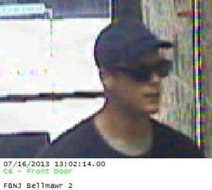 Bellmawr bank robbery suspect